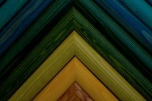 baguette de pin coloré
