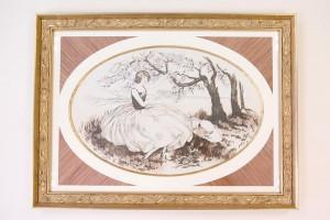 femme dans le style art nouveau