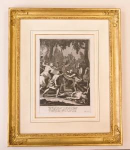 gravure du XVIIe siècle: illustration de l'Enéide de Virgile