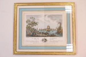 gravure du port de la Rochelle